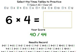 free printable mental maths worksheets for children aged  online times table trainer